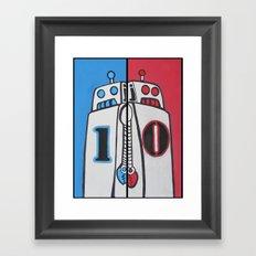 Binary Brothers 1 + 0 Framed Art Print