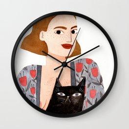 Anne et Margot Wall Clock