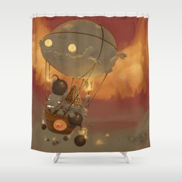 Goblin Balloon Brigade Shower Curtain