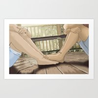feet Art Prints featuring Feet by wreckthisjessy