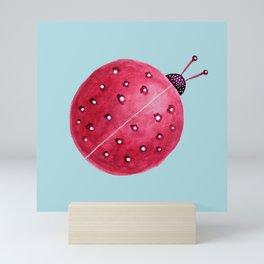 Spherical Abstract Watercolor Ladybug Mini Art Print