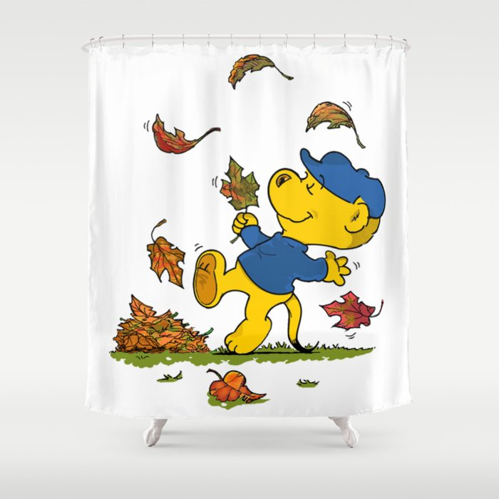 Ferald Dancing Amongst The Autumn Leaves Shower Curtain By Ferald