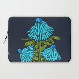Blue Echinacea Laptop Sleeve