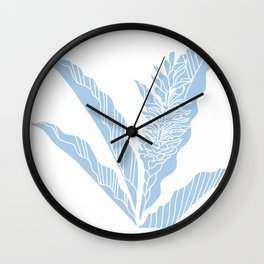 tropical ginger placid blue Wall Clock