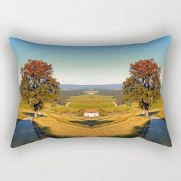 Roadside tree in indian summer colors | landscape photography Rectangular Pillow