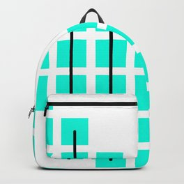 Mint Illusion Pattern Backpack