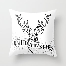 Rattle the stars geometric  Throw Pillow