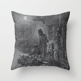 Gustave Dore: Houndsditch Throw Pillow