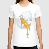 egg T-shirts featuring EGG by naschamsant