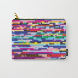 Glitch colorful background Carry-All Pouch