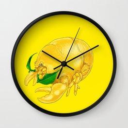 Ll - Lobstemon // Half Lobster, Half Lemon Wall Clock