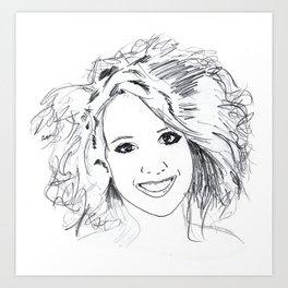 The Beautiful Anke Buckinx Art Print