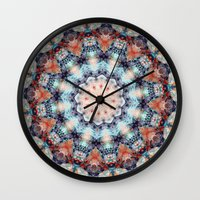 kaleidoscope Wall Clocks featuring kaleidoscope  by North 10 Creations