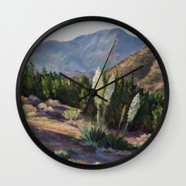 The Sentinels of the California Desert Wall Clock