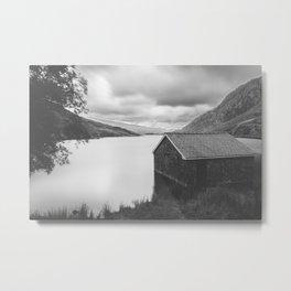 Llyn  Ogwen Boathouse Metal Print