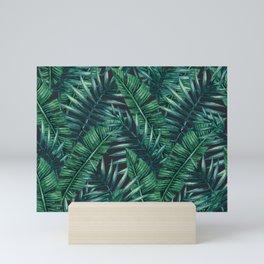 Palm and Banana Leaf Tropical Pattern Mini Art Print