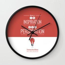 Lab No. 4 - Thomas Alva Edison Quote typography print Inspirational Quotes Poster Wall Clock