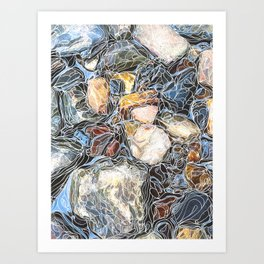 River Rocks #3 Art Print