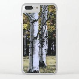 Autumn Dream Clear iPhone Case