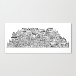 The Long Town  Canvas Print