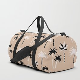 Palm Trees - Neutral Black & White Duffle Bag