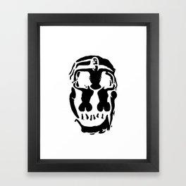 Surrealistic skull inspired by Salvador Dali photo Framed Art Print