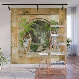 Jungle Tigers Wall Mural