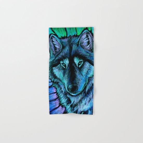 Wolf Aurora Hand & Bath Towel