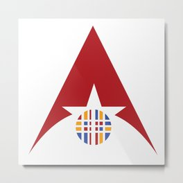 Triangle star circle Metal Print