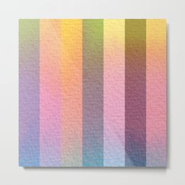 Hazy Aura Rainbow Stripes Metal Print