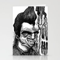 grease Stationery Cards featuring Dave's Grease Ghost by PRESTOONS / Art by Dennis Preston