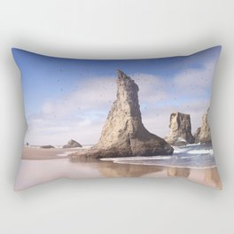 Wizard's Hat at Bandon Beach, Oregon Rectangular Pillow