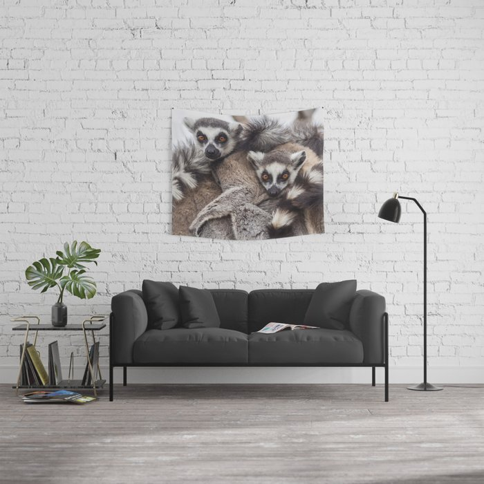 Lemur catta animals Wall Tapestry