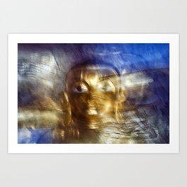 Abstract Buddha Art Print