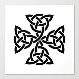 Celtic triquetra cross Canvas Print