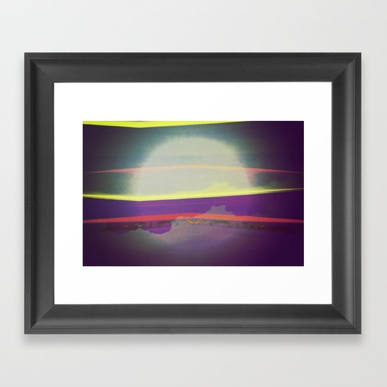 Signs in the Sky Collection - Falling Moon Framed Art Print
