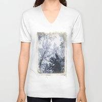 cities V-neck T-shirts featuring Scared cities by HappyMelvin