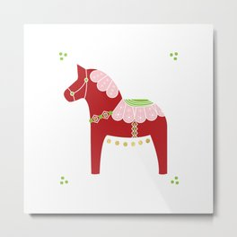 Valentine Dala Horse Metal Print