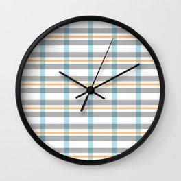 Stripe art in soft colors Wall Clock
