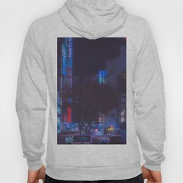Shibuya crossing: blue and red neon lights Hoody