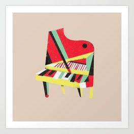 Cubist Piano Art Print