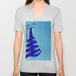 Ribbons and Bows for Christmas Unisex V-Neck