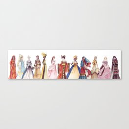 Princesses of the World - From The Princess and the Pea - By:Hans Christian Andersen Canvas Print