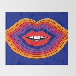 Pop Lips Throw Blanket