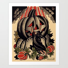 pumpkin of ages Art Print