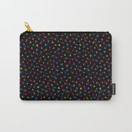 Black Rainbow V Pattern Carry-All Pouch