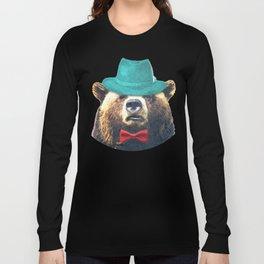 Funny Bear Illustration Long Sleeve T-shirt