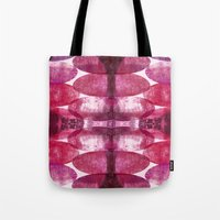 beth hoeckel Tote Bags featuring Beth pink by FYLLAYTA, surface design,Tina Olsson