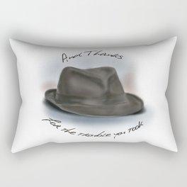 Hat for Leonard Cohen Rectangular Pillow