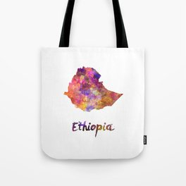 Ethiopia in watercolor Tote Bag